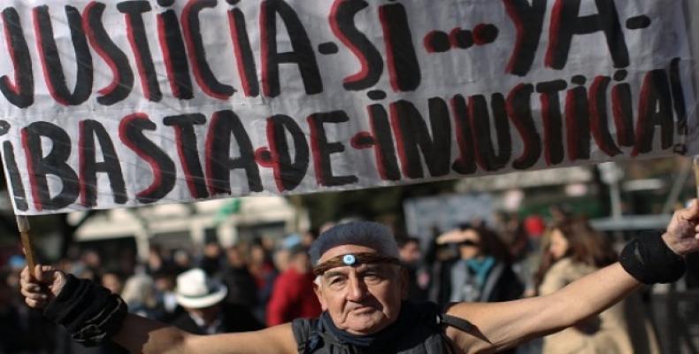 Anterior protesta contra gobiern de Macri