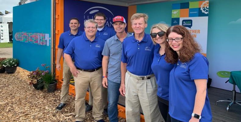 Rep. Rodney Davis with members of the Illinois Soybean Association attending he Farm Progress Show. Twitter photo