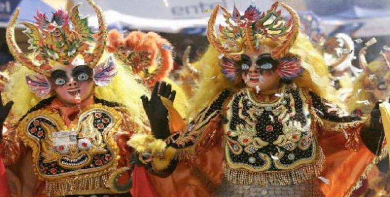 Colorful demons in Bolivia's famous Oruro Carnival