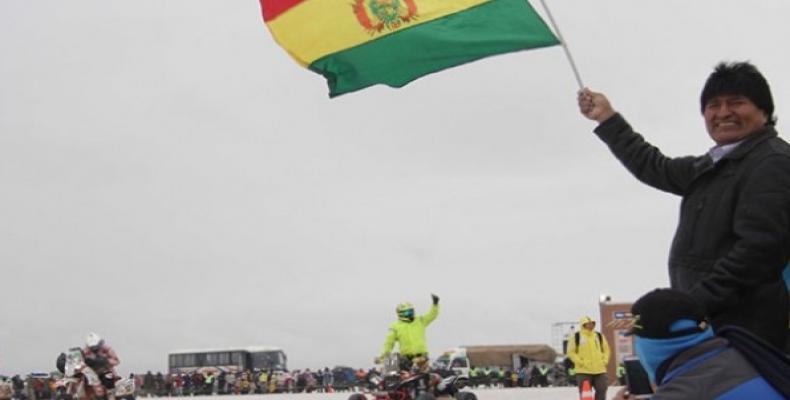 El presidente Evo Morales en el lanzamiento oficial del evento en noviembre pasado  (Foto: laradiodelsur)