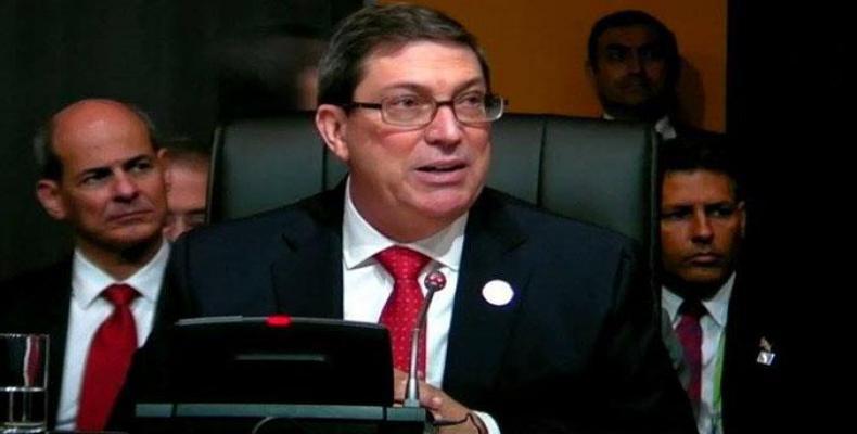 Rodríguez recordó que se invoca a  la Doctrina Monroe  para justificar la dominación norteamericana en nuestra región. Foto: Twitter
