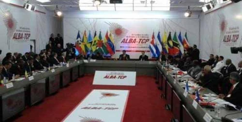 Image of the Summit of the ALBA-TCP held in Caracas on March 5th, 2018.