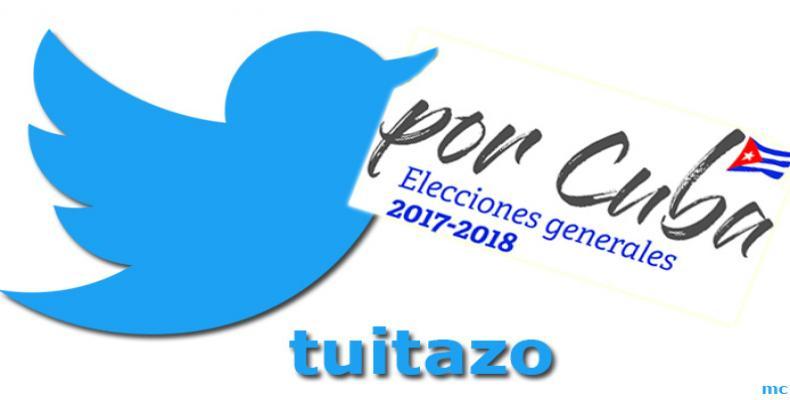 Tuitazo por elecciones en Cuba. foto: María Calvo