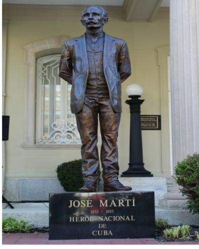 José Martí's statue by José Villa Soberón at Cuban embassy in Washington