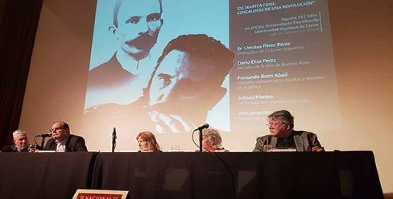La Cátedra Fidel Castro constará de 5 encuentros a realizarse en la UNLa.Foto:Cubadebate.