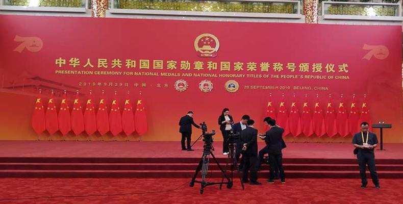Las entregas se realizan en el contexto de las celebraciones por el aniversario 70 de la fundación de la República Popular China. Fotos: Yolaidy Martínez