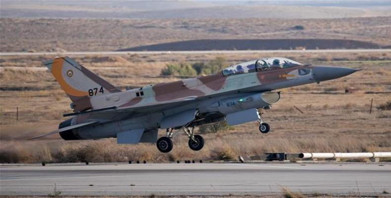 Israeli F-16 fighter jet takes off at Nevatim air force base near Beersheva in the southern part of the Israeli-occupied territories  (Photo: AFP)
