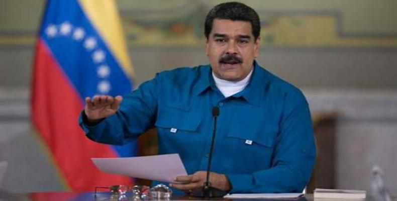 Maduro exponiendo el plan económico que entrará en vigor el próximo día 20