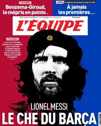 Messi, portada de L Equipe. Foto:L´Equipe.