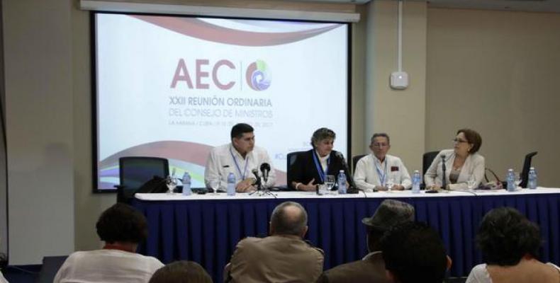 Conferencia de rensa realizada en La Habana. Foto: Abel Padrón/ACN