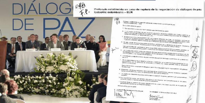 Cuba s'est attachée à l'esprit et la lettre des protocoles pour le dialogue de paix. Photo des archives.
