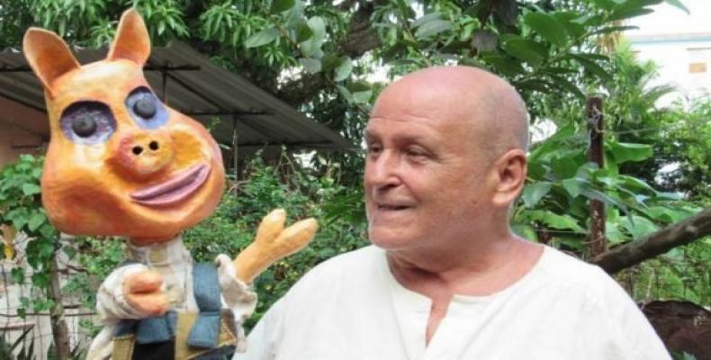 Armando Morales Riverón fue el creador del conocido muñeco Pelusín del Monte, inspirado en el personaje de la escritora cubana Dora Alonso. Foto: AHS.