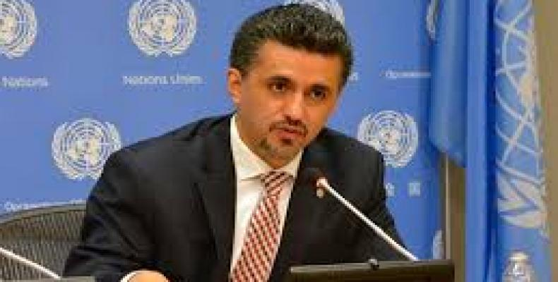 Bolivia's Representative to the UN Sacha Llorenti
