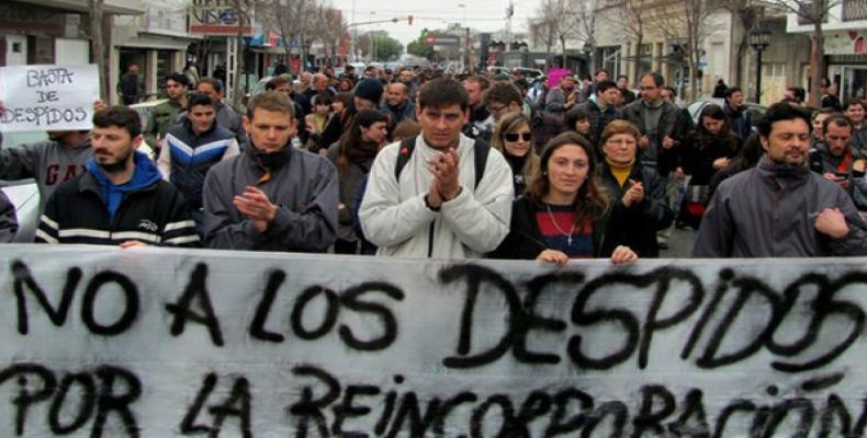 Manifestación en Argentina contra gobierno de Macri. Foto Archivo