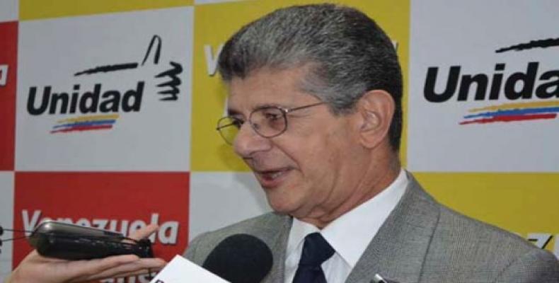 El derechista Henry Ramos Allup, presidente del Parlamento de Venezuela.