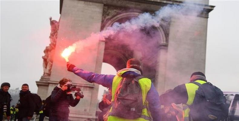 Protests in France continue.  Photo: AFP