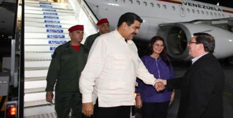 Maduro es recibido por canciller cubano