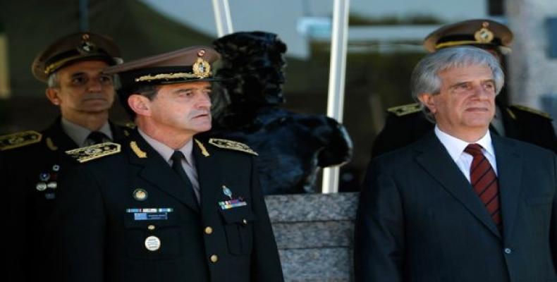 General Manini Ríos y presidente uruguayo