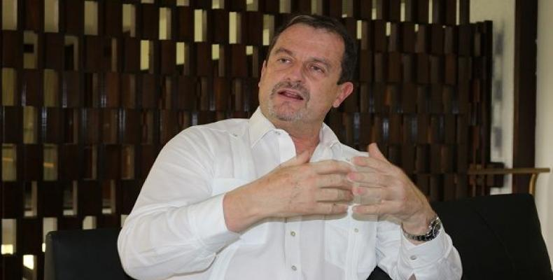 Xavier Cazaubon, Presidente de la Federación Internacional de Pelota Vasca. Foto: Adolfo Ley// Cubadebate