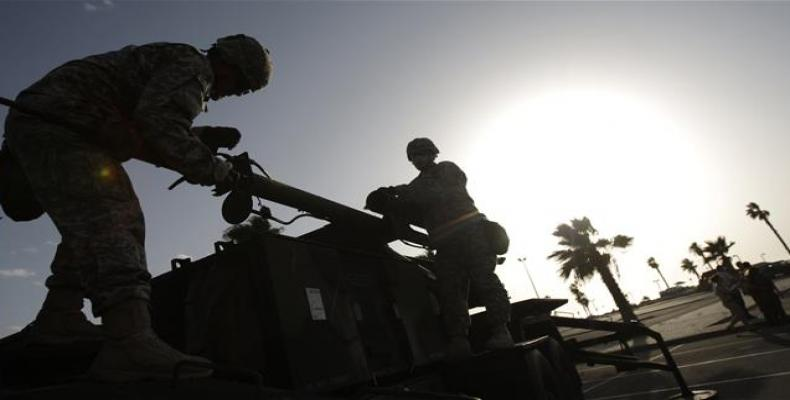 The file photo shows US and Israeli forces preparing for joint exercises.  Photo: File