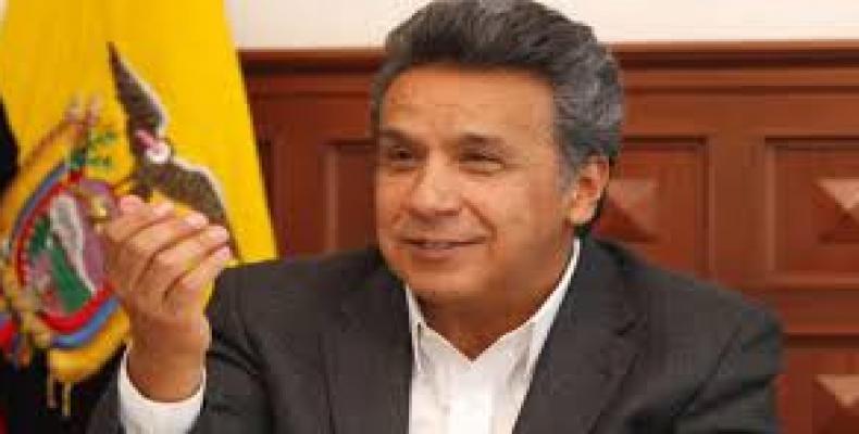 Candidato de la gobernante Alianza PAIS, Lenín Moreno