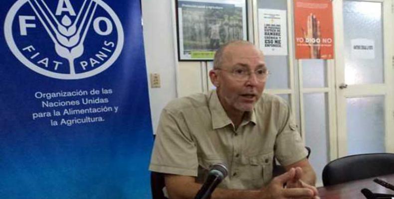 Representante de la FAO en Cuba, Theodor Friedrich