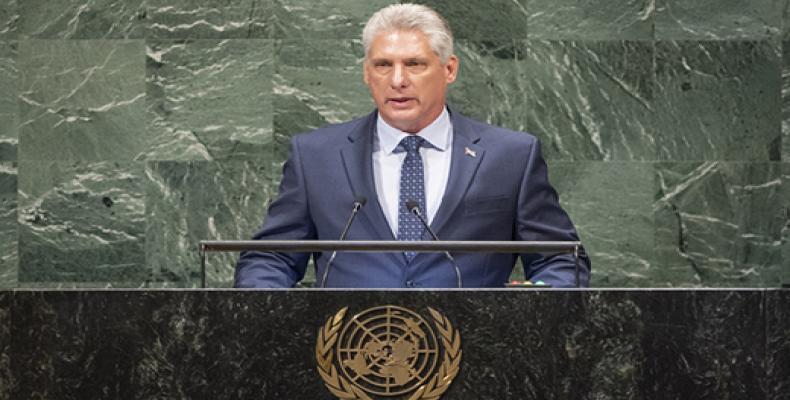 Cuban President Miguel Dìaz-Canel Bermudez. UN Photo