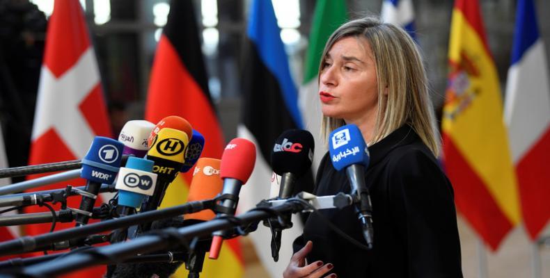 The EU foreign affairs chief Federica Mogherini, File Photo