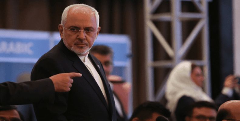 Iran's Foreign Minister Mohammad Javad Zarif at a meeting of the Organization of Islamic Cooperation (OIC) Foreign Ministers Council in Istanbul, Turkey.   Phot