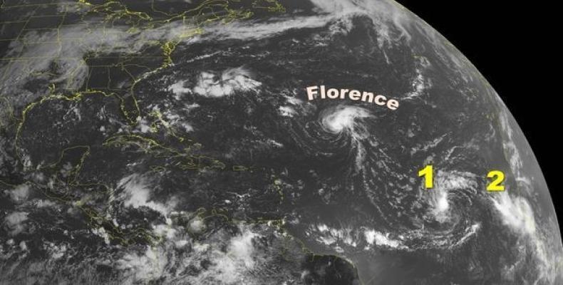 Al parecer, Florence no se quedará sola.Foto:Administración Nacional Oceánica y Atmosférica NOAA