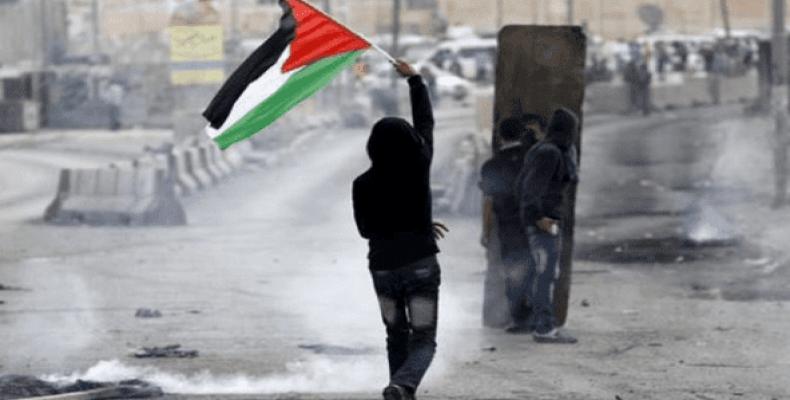 Palestinian protesters resist Israeli occupation.  Photo: Reuters