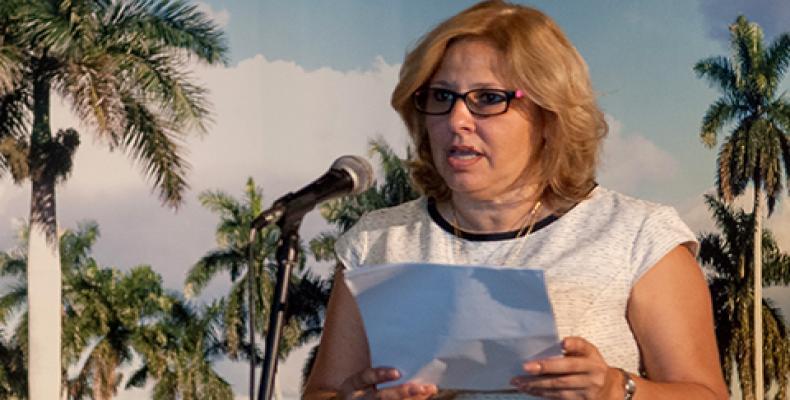 La embajadora Ana Teresita González Fraga representa a Cuba en el encuentro. Foto: Juventud Rebelde
