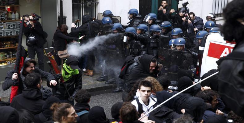 La Sociedad Nacional de Ferrocarriles (SNCF) reportó un alto índice de huelguistas.Foto:AFP.