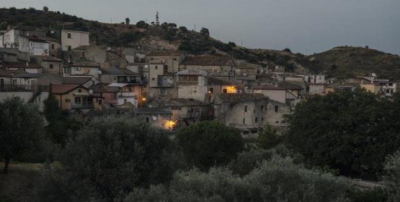 A view of Riaci, a small town in the Italian region of Calabria.  Photo: AFP