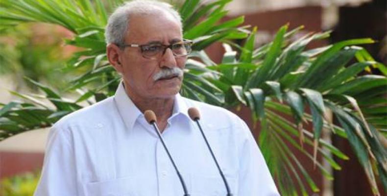 Asegura presidente saharaui que el pueblo cubano es una referencia. Foto: ACN.