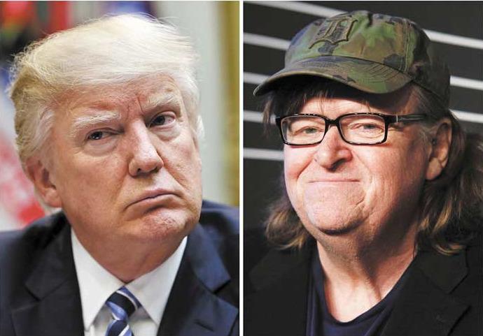 Michael Moore seguró que Trump es un genio malvado y planteo la posibilidad de que mienta acerca de tener a Covid-19. (Foto:PL)