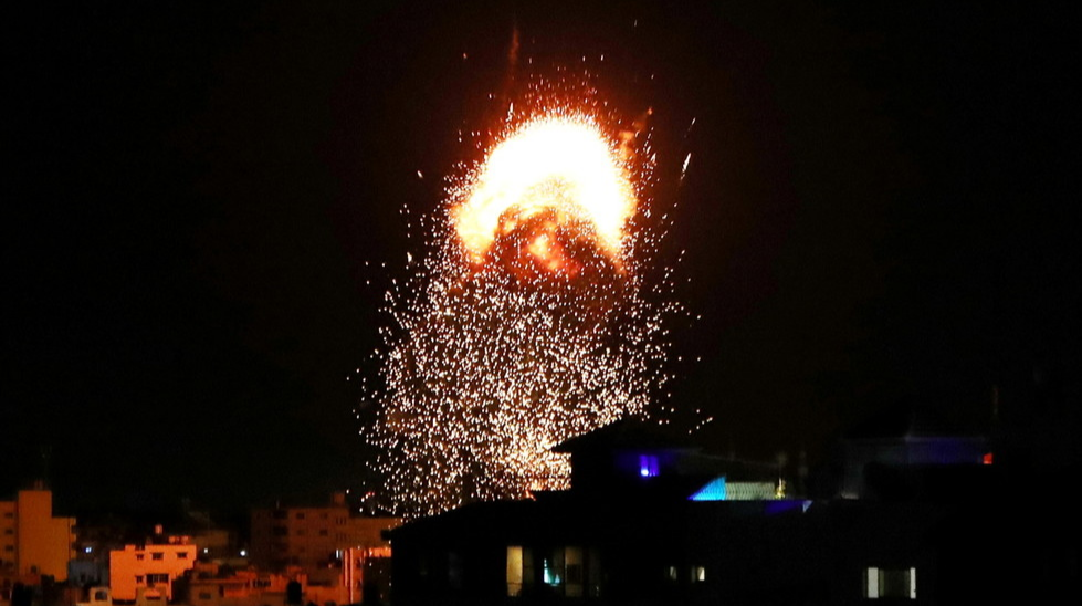 Israeli air strike destroys main COVID-19 testing lab in Gaza