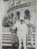 Agosto de 1947. Capitolio de La Habana. Abel Santamaría junto a sus padres, su hermano Aldo y su primo Fico. Foto: Jessica Arroyo Malvarez/RHC
