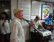 Acto en ocasión del 54 aniversario de la emisora, durante el cual se develó una escultura del general José Gervasio de Artigas