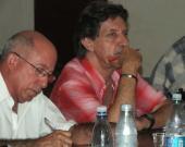 Guillermo Pavón, vicepresidente del Instituto cubano de Radio y Televisión (ICRT) e Isidro Fardales , director de Radio Habana Cuba