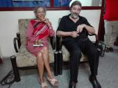 Profesora Leyla Carrillo Ramírez, junto al poeta argentino Héctor Celano.