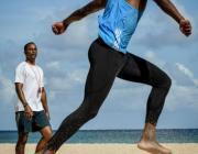 Teddy Tamgho entrena en playas de Cuba
